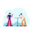 businessmen friends or colleagues having coffee vector image vector image