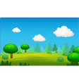 cartoon landscape nature background vector image vector image