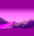 cliff background violet where adventure in jungle vector image
