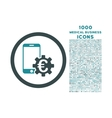 Configure Mobile Euro Bank Rounded Icon with 1000 vector image vector image