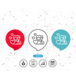 couple love line icon group of people sign vector image