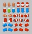 Cube World Barrels vector image vector image