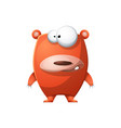 cute funny bear - cartoon characters vector image