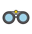 cute grey binoculars cartoon vector image vector image