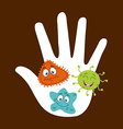 cute infection vector image