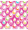 droplet seamless ornament pattern abstract rain vector image vector image