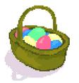 easter pixel basket vector image
