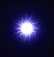 electric ball with lightning effect vector image