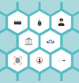 flat icons automobile suspicious thief and other vector image vector image