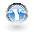 glossy icon letter y vector image