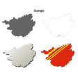 Guangxi blank outline map set vector image vector image