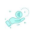 hand euro money icon design vector image
