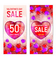 happy valentines day sale banners isolated on vector image