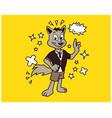 hipster fox cartoon t shirt design vector image vector image