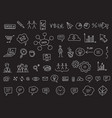ideas and processes school business icons vector image vector image