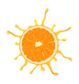 juicy orange with a splash isolated image vector image vector image