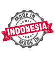 made in indonesia round seal vector image vector image