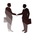 meeting businessmen icon vector image vector image