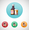 Mixture solution bottles icon set vector image
