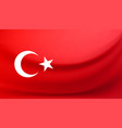 national flag of turkey vector image