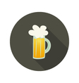 Oktoberfest beer glass mug circle dark brown icon vector image vector image