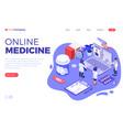 online medical diagnostics isometric vector image