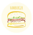 outline colorful hamburger symbol vector image vector image