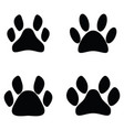 paw print icon set vector image