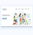 pediatrician website landing page design vector image