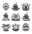 pirate skull corsair ships symbols piracy vector image vector image