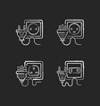 power outlet types black glyph icons set on white vector image vector image