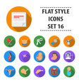 pregnancy set icons in flat style big collection vector image vector image