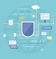 protection of digital data concept vector image