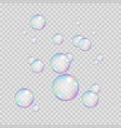 realistic rainbow color bubbles colorful soap vector image vector image