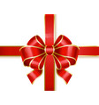 ribbon bow tied in knot used as decor for gifts vector image vector image
