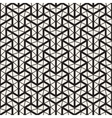Seamless Black And White Geometric Grid vector image vector image
