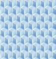Seamless from blue glass cubes vector image vector image