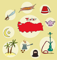 set of national profile of the turkey vector image vector image