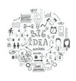 sketch business round concept vector image vector image