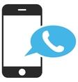 Smartphone Call Balloon Eps Icon vector image vector image