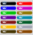 Sneakers icon sign Set from fourteen multi-colored vector image vector image