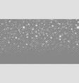 snowfall with various shapes snowflakes vector image vector image