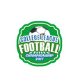 soccer football college league badge icon vector image vector image