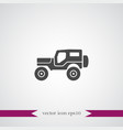suv icon simple vector image vector image