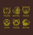 tiger head royal badge with beautiful animal vector image