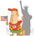 tourist travel america vector image