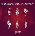 tribal design elements and tattoo ornaments vector image