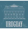 Uruguay landmarks Theater Solis Montevideo Retro vector image vector image