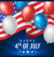 us independence day banner poster or greeting vector image vector image