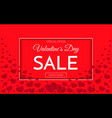 valentines day sale banner template sale poster vector image